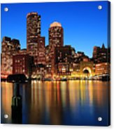 Boston Aglow Acrylic Print