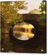 Boston Bridge Reflections Acrylic Print