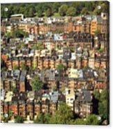 Boston Brownstone Architecture Acrylic Print