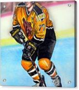 Boston Bruins Ray Bourque Acrylic Print by Dave Olsen
