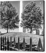 Boston Bunker Hill Monument - Monochrom Acrylic Print