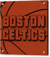 Boston Celtics Leather Art Acrylic Print
