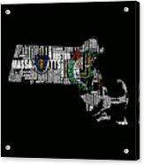 Boston Celtics Typographic Map Acrylic Print
