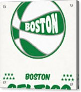 Boston Celtics Vintage Basketball Art Acrylic Print
