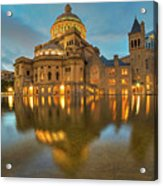 Boston Christian Science Building Reflecting Pool Acrylic Print