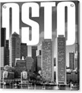 Boston Cityscape Acrylic Print