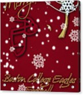 Boston College Eagles Christmas Card Acrylic Print