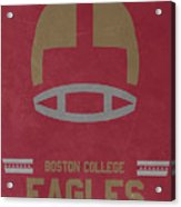 Boston College Eagles Vintage Football Art Acrylic Print