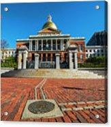 Boston Freedom Trail To State House Boston Ma Acrylic Print