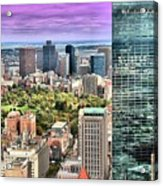 Boston From Above Acrylic Print