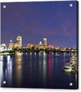 Boston Harbor Skyline Acrylic Print by Joann Vitali