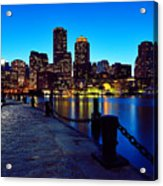 Boston Harbor Walk Acrylic Print