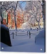 Boston Ma Granary Burying Ground Tremont St Grave Stones Acrylic Print