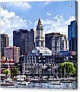 Boston Ma - Skyline With Custom House Tower Acrylic Print