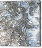 Boston Map, 1903 Acrylic Print