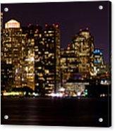 Boston Massachusetts - Panoramic Acrylic Print