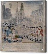 Boston Massacre.  British Troops Shoot Acrylic Print by Everett