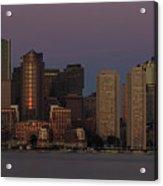 Boston Moonset And Sunrise Acrylic Print