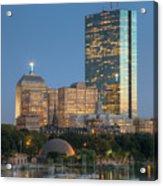 Boston Night Skyline Iv Acrylic Print