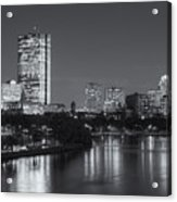 Boston Night Skyline V Acrylic Print by Clarence Holmes