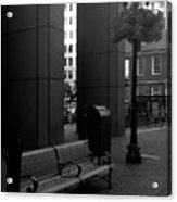Boston Park Bench And Lantern Acrylic Print