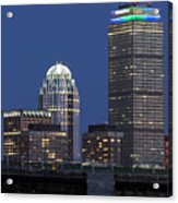 Boston Prudential Center Celebrating 100th Anniversary Of Shaw Market Acrylic Print by Juergen Roth