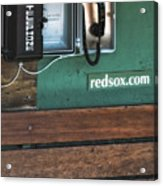 Boston Red Sox Dugout Telephone Acrylic Print