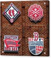 Boston Red Sox World Series Emblems Acrylic Print