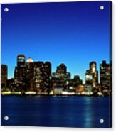Boston Skyline Acrylic Print by By Eric Lorentzen-Newberg