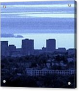 Boston Skyline From Quincy Acrylic Print