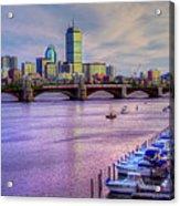 Boston Skyline Sunset Acrylic Print by Joann Vitali