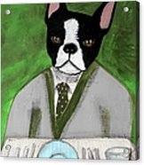 Boston Terrier At A Formal Dinner Acrylic Print