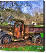 Boswell 1947 Dump Truck Farm Scene Acrylic Print