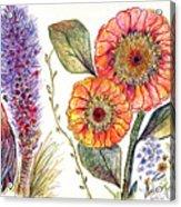 Botanical Flower-49 Acrylic Print