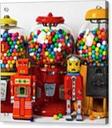 Bots And Bubblegum Machines Acrylic Print