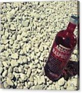 Bottle And The Beach  Acrylic Print