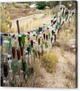 Bottle Fence. Acrylic Print
