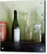 Bottles And A Coffee Can Acrylic Print