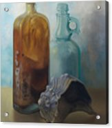 Bottles And Shell Acrylic Print