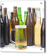 Bottles Of Beer And Beer Mug.  Acrylic Print