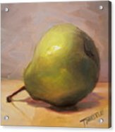 Bottoms Up Green Pear Print Acrylic Print