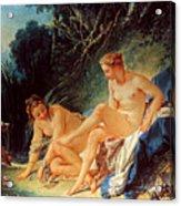 Boucher: Diana Bathing Acrylic Print