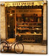 Boulangerie And Bike Acrylic Print by Mick Burkey