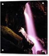 Boulder Cave Falls From The Side  Acrylic Print
