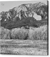 Boulder Colorado Flatiron View From Jay Rd Bw Acrylic Print
