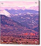 Boulder Colorado Sunrise Panorama Acrylic Print