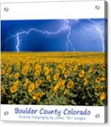 Boulder  County Colorado Acrylic Print