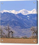 Boulder County Colorado Panorama Acrylic Print