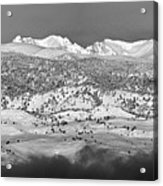Boulder County Continental Divide Panorama Bw Acrylic Print