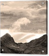 Boulder County Indian Peaks Sepia Image Acrylic Print by James BO  Insogna